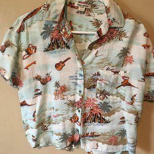 Hawaiian Button up top